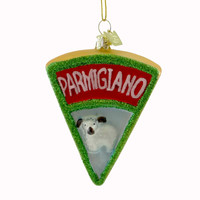 Noble Gems CHEESE Glass Ornament Wine Christmas Nb0668 Parmigiano