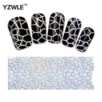 YWK 1 Pack(10Pcs) DIY Nail Art Transfer Foil Decal Beauty Craft Decorations Accessories For Manicure Salon #XKT-N01