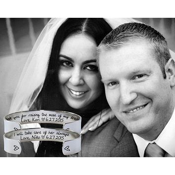 Mother of the Bride Mother of the Groom Bracelets | Mother In Law Wedding Gift Set