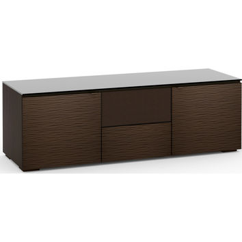 Berlin 65 Inch TV Stand Cabinet Center Speaker Opening Wenge