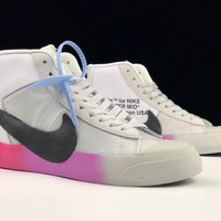 """[ Free  Shipping ]Off-White x Nike Blazer Mid """"All Hallows Eve""""AA3832-700-001  Basketball Shoes"""