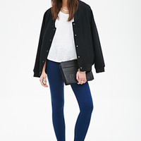 FOREVER 21 Seam-Stitched Paneled Leggings