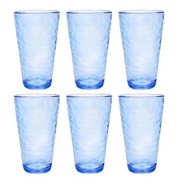 Premium Acrylic Drinking Glass Set of 6 166 oz BPAFree MultiColor