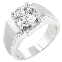 Regal Mens Cubic Zirconia Ring, size : 10