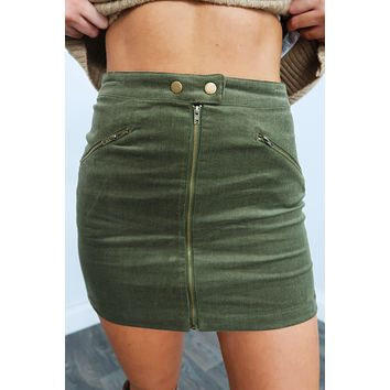 Branching Out Skirt: Olive