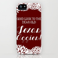 Texas A&M iPhone Case by PrintableWisdom | Society6