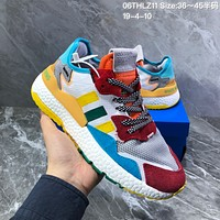 HCXX  A1249 Adidas EQT Boost 2019 Mesh Fashion Running Shoes Yellow Red Blue