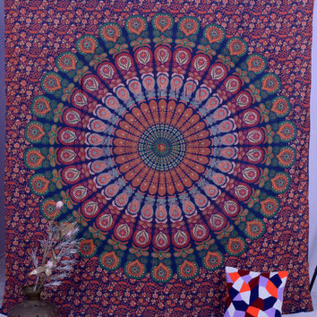Mandala Tapestries, Hippie Tapestries, Tapestry Wall Hanging, Wall Art, Hippie Wall Tapestries, Indian Tapestry, Bohemian Dorm Tapestries