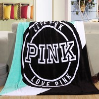 Love Pink Plush Throw Blanket