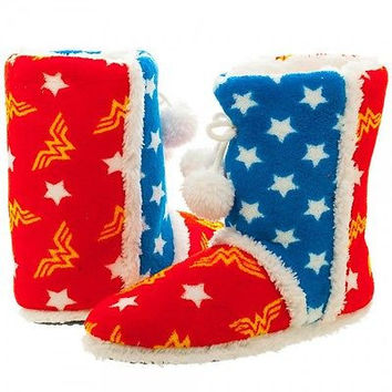 DC Comics Wonder Woman Boot Slippers Womens Size SM (5/6)