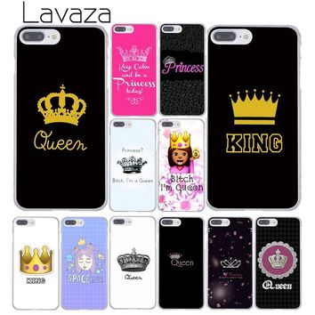 Cool Lavaza Daisy Flower Bitch I am Queen crown king PRINCESS Phone Case for iPhone XR XS Max X 8 7 6 6S Plus 5 5S SE 5C 4S 10 CoverAT_93_12