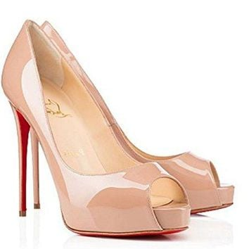 Christian: Louboutin New High-Heeled Sandals 120mm