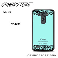 Tiffany Teal And Leopard Pattern For LG G3 Case UY