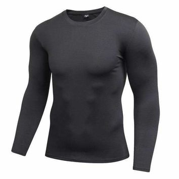 Men's Blank Long Sleeve Compression Top