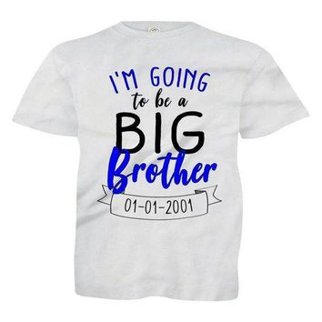 ONETOW I'm Going To Be A Big Brother (Custom Date) - Kids