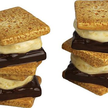 Salt & Pepper Shaker Set - S'Mores