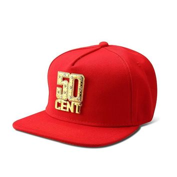 Trendy Winter Jacket NYUK Snapback Hats  Bling Iced Out Gold 50 CENT Baseball Cap Hat Hip Hop Men Women Casual Straight Flap Brim Bone Caps AT_92_12
