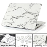 Best selling Marble Texture Case Protective Laptop Cover for Air 13'' Pro 13 New Retina 13 inch for macbook Keyboard Cover+film