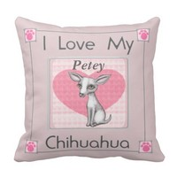 Chihuahua Dog Love Valentine's Day Throw Pillow