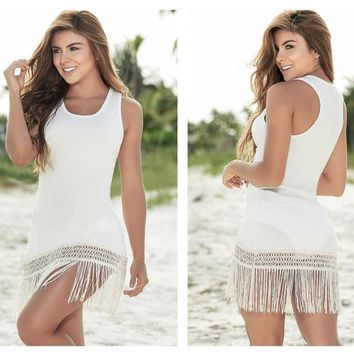 7859 Loose Fit Cover-Up Beach Dress