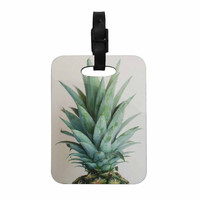 "Chelsea Victoria "" The Pineapple"" Green Gold Decorative Luggage Tag"