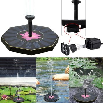 Solar Power Fountain Pump Water Floating Pump Pool Garden Plant Watering Kit Outdoor Garden Decoration 200L/h