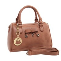 MG Collection Heidi Bowling Shoulder Bag, Brown, One Size