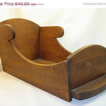 20% OFF SUMMER SALE Vintage Doll Bed