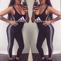 Adidas Women Casual Short Gym Set Jumper Vest Romper