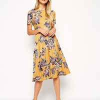 ASOS | ASOS Midi Skater Dress in Tapestry Floral Print at ASOS