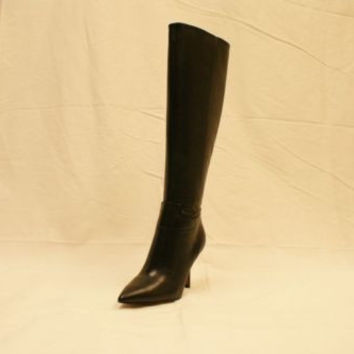 Nine West Getta Black Knee High Leather High Heels Boots 6 M NIB