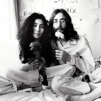 John Lennon and Yoko Ono Photo by Ivor Sharp at AllPosters.com