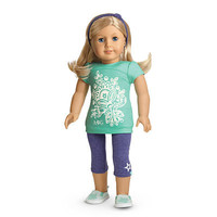 American Girl® Clothing: Tropical Bloom Outfit for Dolls + Charm