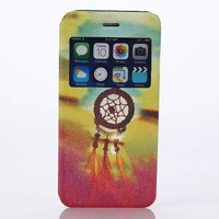 Dreamcatcher Print Leather Case Cover for iPhone 6S 6 Plus Samsung Galaxy S6