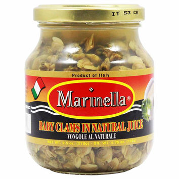 Italian Baby Clams in Natural Juice by Marinella 9.5 oz
