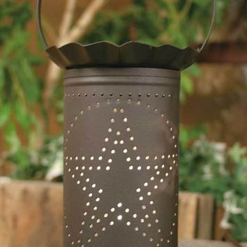 Rustic Large Punched Star Electric Wax Potpourri Warmer