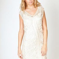 Holly 70's Style Crochet Sleeveless Dress at boohoo.com