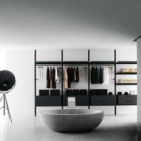 Laminate walk-in wardrobe BROMPTON by Boffi | design Piero Lissoni