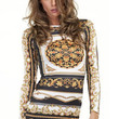 Bohemian Print Long Sleeve Bodycon Dress