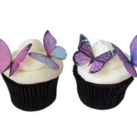24 Edible Butterflies Prettiest Purple by incrEDIBLEtoppers