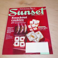 Sunset Magazine December 2009 Knockout Holiday Cookies