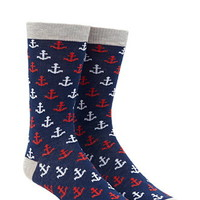 Men Anchor Socks