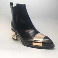 "Jeffrey Campbell ""Black Box"" Leather Heels"