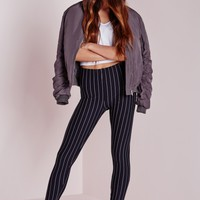 Missguided - Pinstripe Leggings Navy
