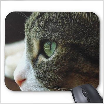 Cat Photo Mousepad - Tabby Kitten Close Up - Mouse Pad
