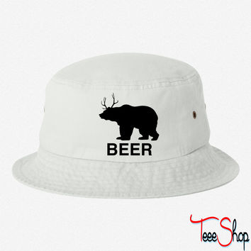 Bear Deer Beer - Copy bucket hat