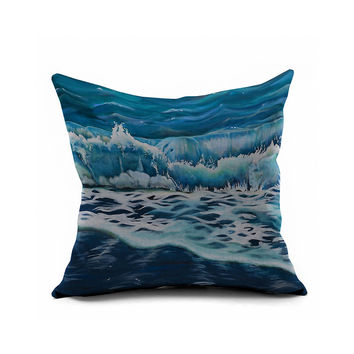 Sea Sofa Decoration Print Cushion Cover [6451649926]