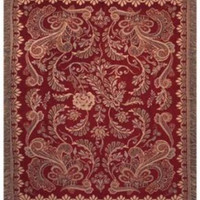 Rafael Red Chenille Wall Tapestry Afghans