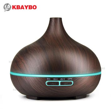 300ml Essential Oil Diffuser & Humidifier for Aromatherapy with Wood Grain