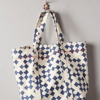 Quatrefoil Tote by Anthropologie Blue Motif One Size Bags